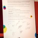 Handvest met handtekeningen